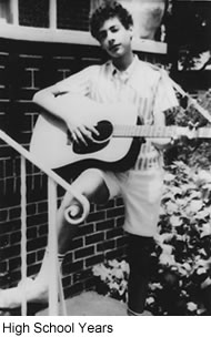 Warshak High School Years with Guitar.